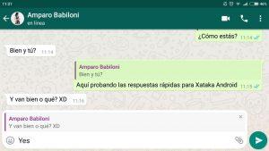 Mensaje concreto WhatsApp